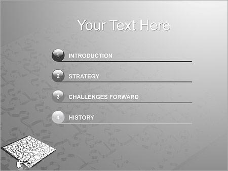Шаблон для презентации Большая головоломка паззл - Третий слайд