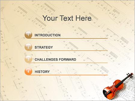 Шаблон для презентации Скрипка и ноты - Третий слайд