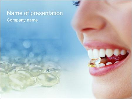 Шаблон презентации Употребление таблеток - Титульный слайд
