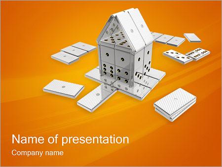 Шаблон презентации Домино - Титульный слайд