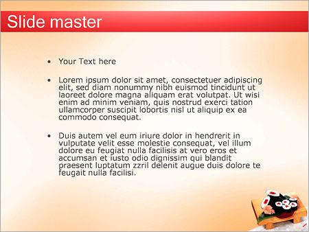 Шаблон PowerPoint Суши на деревянной доске - Второй слайд