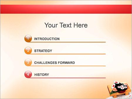 Шаблон для презентации Суши на деревянной доске - Третий слайд