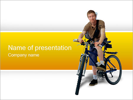 Шаблон презентации Велосипед - Титульный слайд