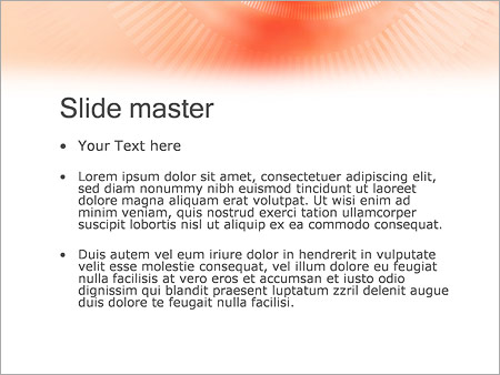 Шаблон PowerPoint Бежевый тоннель - Второй слайд