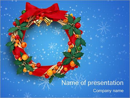 Шаблон презентации Рождественский венок - Титульный слайд