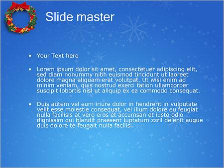 Шаблон PowerPoint Рождественский венок - Второй слайд