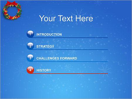 Шаблон для презентации Рождественский венок - Третий слайд