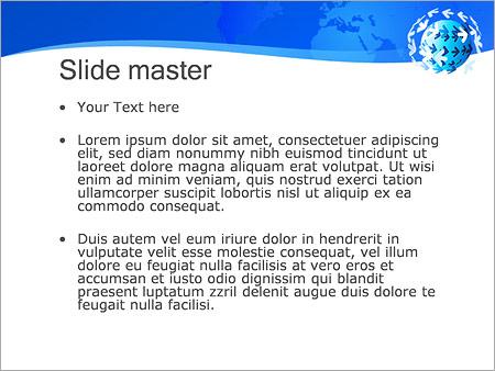 Шаблон PowerPoint Земной шар и стрелки - Второй слайд