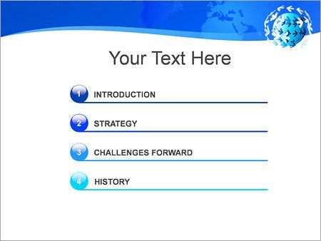 Шаблон для презентации Земной шар и стрелки - Третий слайд