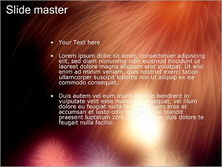 Шаблон PowerPoint Праздничный салют - Второй слайд