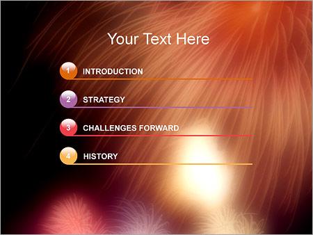Шаблон для презентации Праздничный салют - Третий слайд