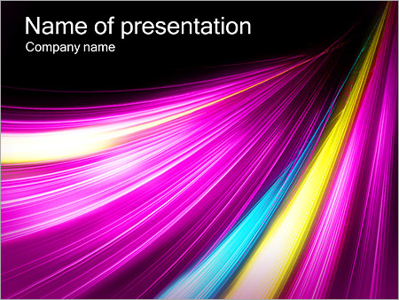 Шаблон презентации Сиреневые размытые линии - Титульный слайд