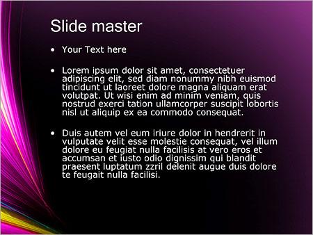 Шаблон PowerPoint Сиреневые размытые линии - Второй слайд