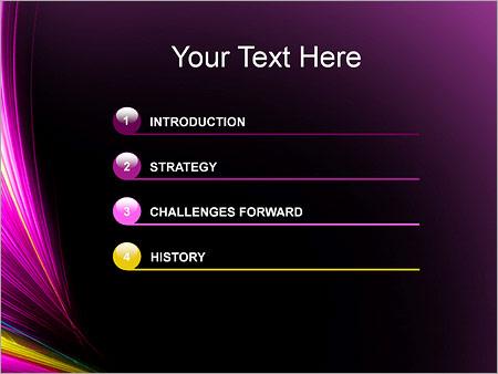 Шаблон для презентации Сиреневые размытые линии - Третий слайд