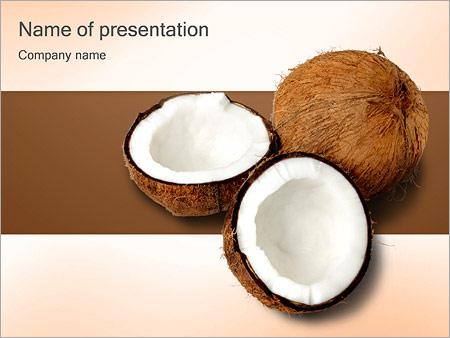 Шаблон презентации Кокосы - Титульный слайд