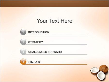 Шаблон для презентации Кокосы - Третий слайд