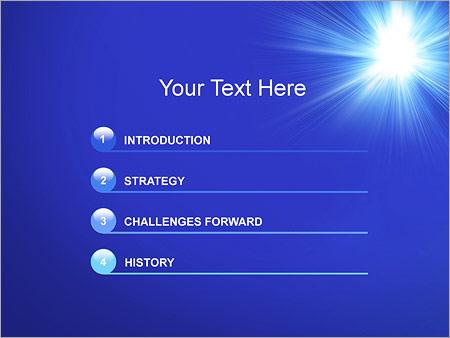 Шаблон для презентации Яркий свет - Третий слайд