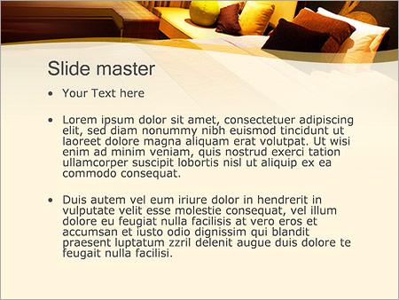 Шаблон PowerPoint Дизайн комнаты - Второй слайд