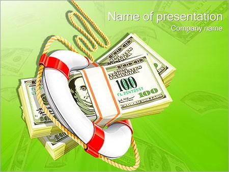 Шаблон презентации Падение курса доллара - Титульный слайд