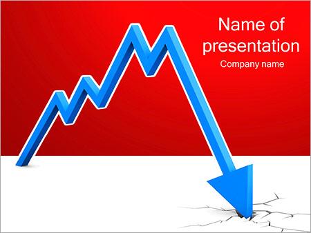 Шаблон презентации Финансовый кризис - Титульный слайд