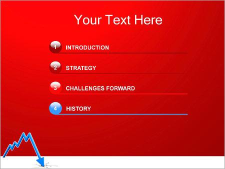 Шаблон для презентации Финансовый кризис - Третий слайд