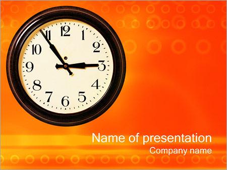 Шаблон презентации Часы - Титульный слайд