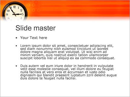 Шаблон PowerPoint Часы - Второй слайд