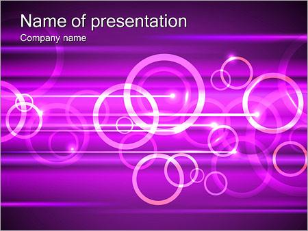 Шаблон презентации Сиреневые кольца - Титульный слайд
