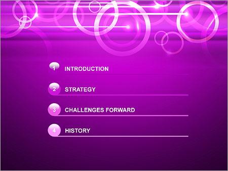 Шаблон для презентации Сиреневые кольца - Третий слайд