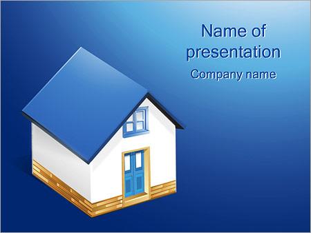 Шаблон презентации Частный дом - Титульный слайд