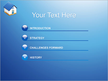 Шаблон для презентации Частный дом - Третий слайд