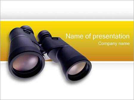 Шаблон презентации Бинокль - Титульный слайд