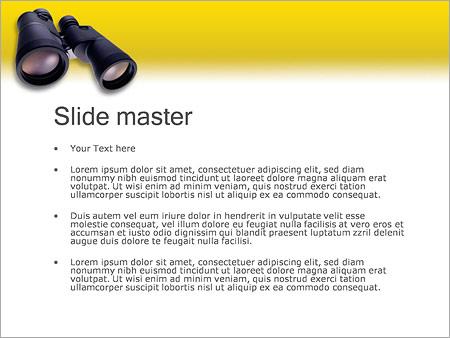 Шаблон PowerPoint Бинокль - Второй слайд