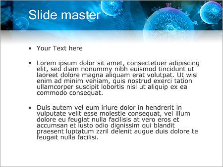 Шаблон PowerPoint Абстрактные сферы с растениями - Второй слайд