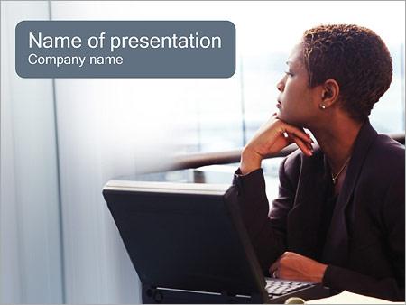 Шаблон презентации Деловая женщина - Титульный слайд