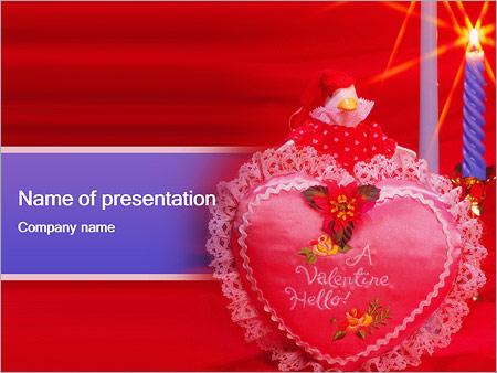 Шаблон презентации День Святого Валентина - Титульный слайд