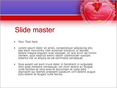 Шаблон PowerPoint День Святого Валентина - Второй слайд