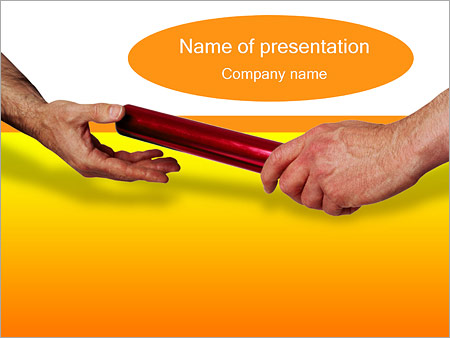 Шаблон презентации Эстафета - Титульный слайд