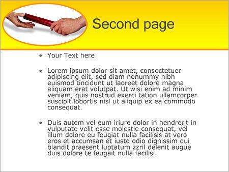 Шаблон PowerPoint Эстафета - Второй слайд