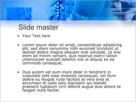 Шаблон PowerPoint Бизнес конкуренция - Второй слайд