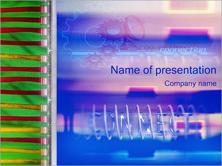 Шаблон презентации Коммуникации и связь - Титульный слайд