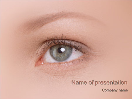 Шаблон презентации Глаз - Титульный слайд