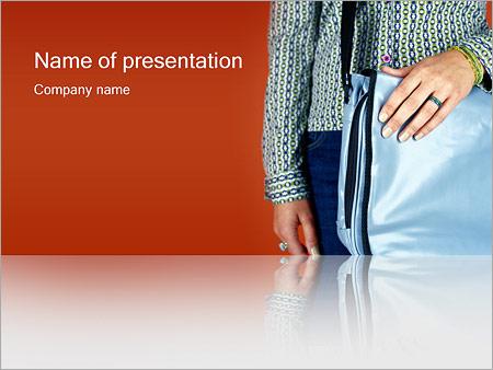 Шаблон презентации Парень с сумкой - Титульный слайд