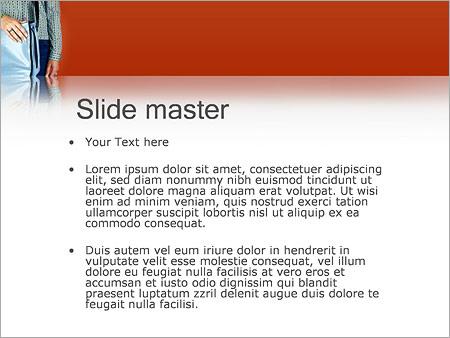Шаблон PowerPoint Парень с сумкой - Второй слайд