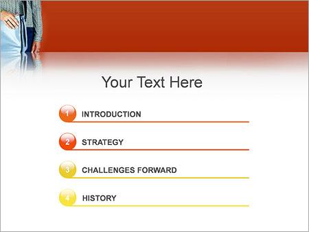 Шаблон для презентации Парень с сумкой - Третий слайд
