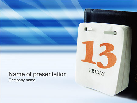 Шаблон презентации Пятница 13 - Титульный слайд