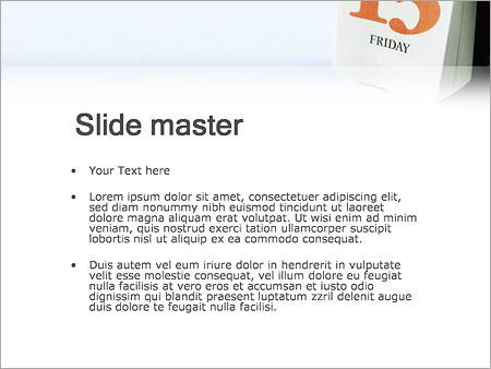 Шаблон PowerPoint Пятница 13 - Второй слайд