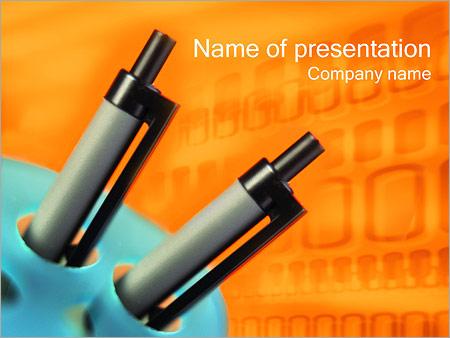 Шаблон презентации Шариковые авторучки - Титульный слайд