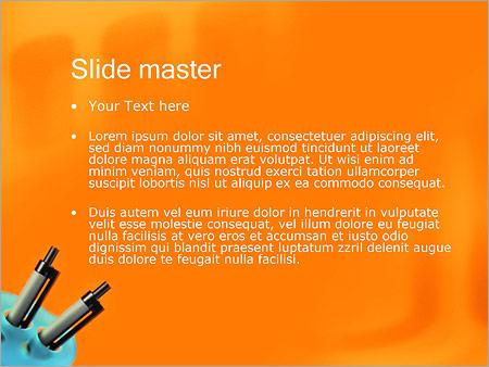 Шаблон PowerPoint Шариковые авторучки - Второй слайд