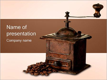 Шаблон презентации Ручная кофемолка - Титульный слайд